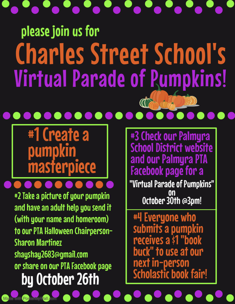 PTA PARADE OF PUMPKINS