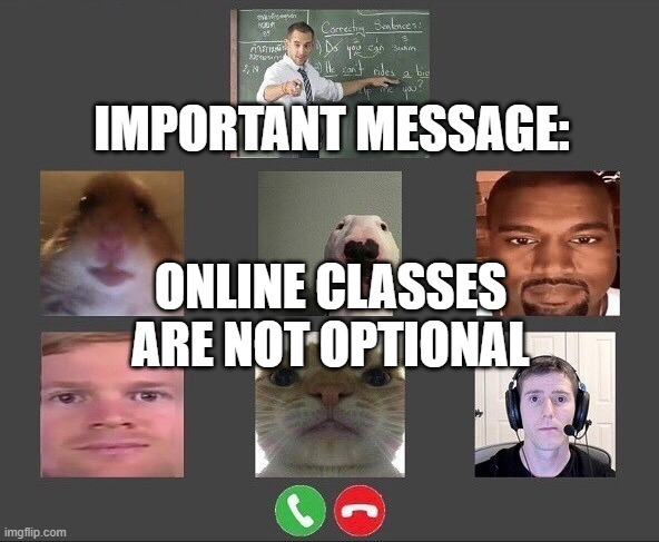 ONLINE CLASSES ARE NOT OPTIONAL