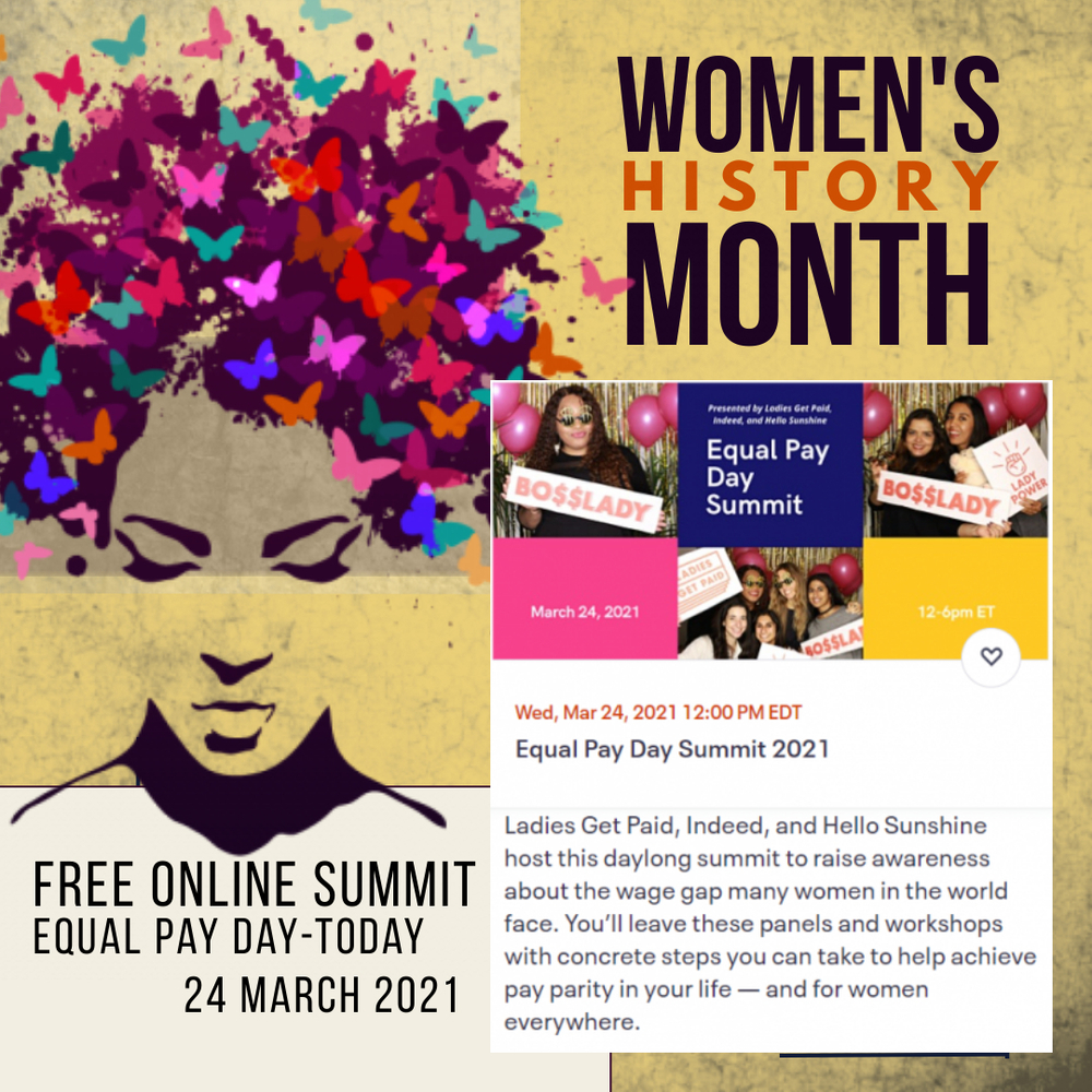 Women's History Month FREE Equal Pay Day Virtual Summit