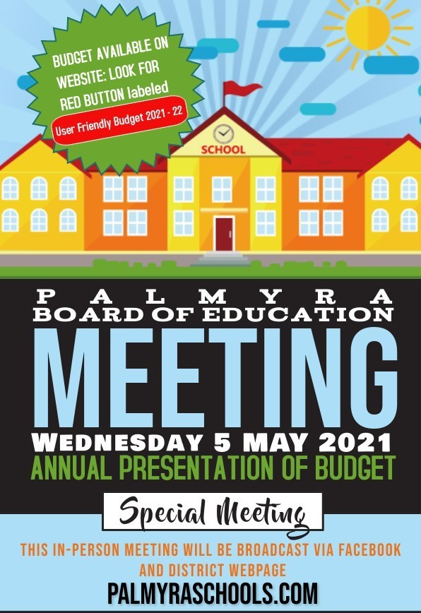 BoE Annual BUDGET PRESENTATION MEETING