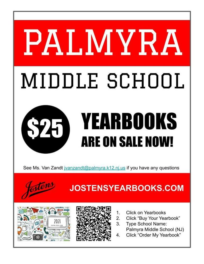 Middle School Yearbooks ON SALE NOW!