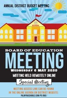Annual BoE Budget Meeting May 6th