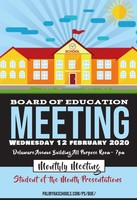 February Board of Ed Meeting
