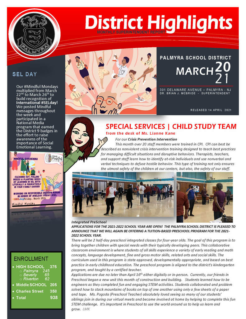Monthly District Newsletter cover