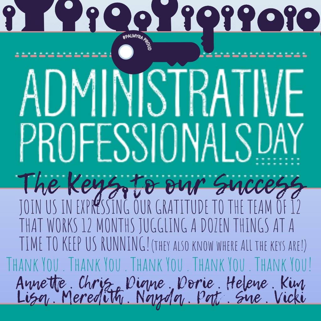 graphic thanking support professionals