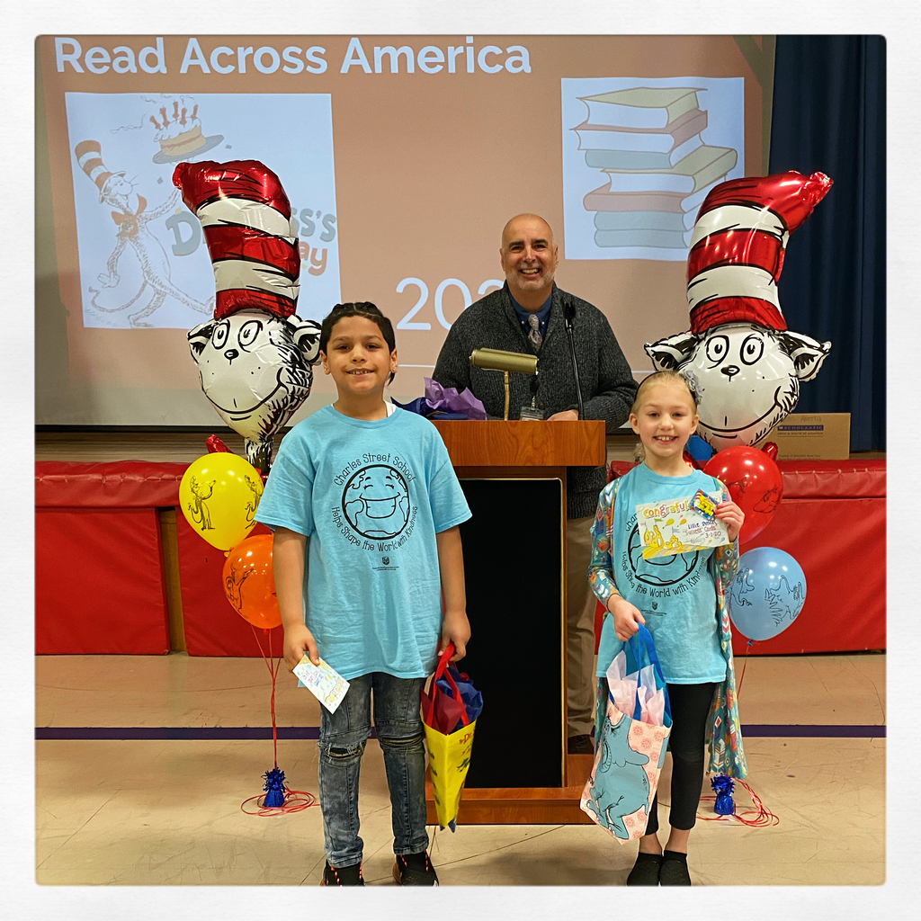 Winners of the Dr. Seuss Success card recognition lottery