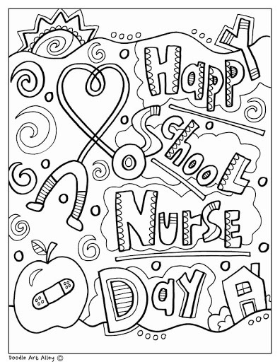doodle art alley coloring sheet
