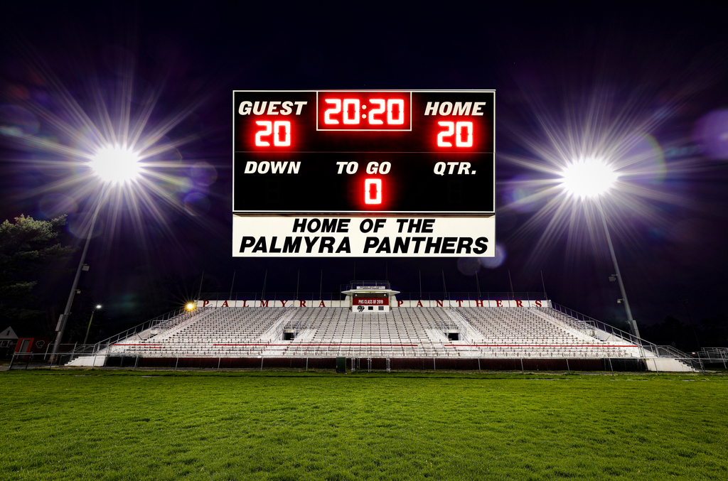 stands with scoreboard